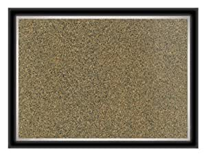 Board Dudes 35 x 46 Inches Dual Effex Premium Pebbled Cork Board with 2-Tone Frame (12784)
