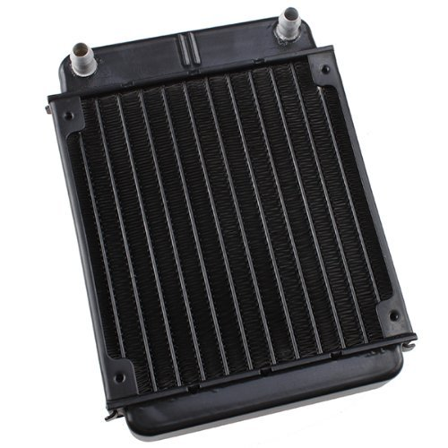 IMAGE® Blck Aluminum Heat Exchanger Radiator For PC CPU CO2 Laser Water Cooling System Computer