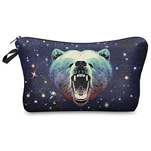 Trousse à cosmétiques à fermeture éclair Motif bouche et pois, Galaxy Grizzly (Multicolore) - MUBFP