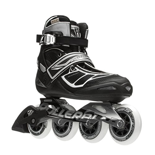 Rollerblade-15-TEMPEST-90C-High-Performance-FitnessTraining-Skate-with-4x90mm-Supreme-Wheels-BlackSilver-US-Men-105