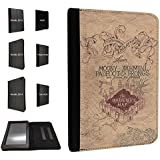 446 - The Marauder's Map Design Fashion Trend TPU Leather Flip Case For Amazon Kindle Paperwhite 6'' Full Case Flip TPU Leather Purse Pouch Defender Stand Cover