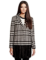 Limited Edition Checked Coat with Wool