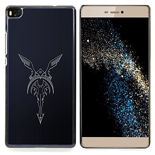 GIFT CHOICE / Dimagriscono Duro Custodia protettiva Caso Cassa Slim Hard Protective Case SmartPhone Cover for Huawei Ascend P8 (Not for P8 Lite) // biker angel fender wings motorcycle //