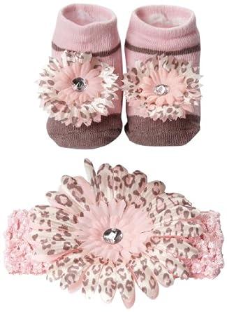 Amazon Little Me Baby Girls Newborn Head Wrap and