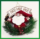 【ELEEJE】 クリスマスの 飾りつけには やっぱり リース 可愛い サンタが お出迎え(サンタC)