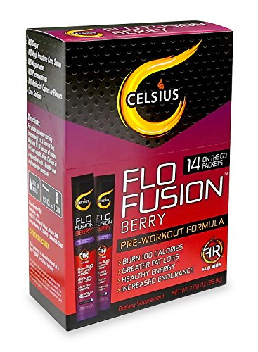 "Celsius ""Flo Fusion"" Berry On-the-Go with 14 Count Packets,"
