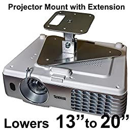 Projector-Gear Projector Ceiling Mount for BENQ HT2050 with Extension Lowers 13\