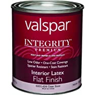 Valspar 004.6001424.005 Integrity Latex Flat Interior Wall Paint And Primer in One Paint