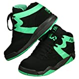 Fila M Squad Basketball Mid-top Shoes, FW00480-088, Black and Green