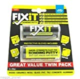 *TWIN PACK* JML Fix-IT Multi-Purpose Universal Super Bonding Adhesive DIY Putty/Glue/Filler/Epoxy all surface super strength bonding putty (for Wood. Metal, Plastic, PVC, Glass, Ceramics, Concrete etc) ##SEE VIDEO##