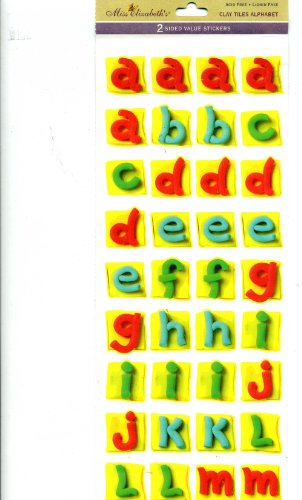 Miss Elizabeth's Clay Tiles Alphabet 2-Sided Value Stickers