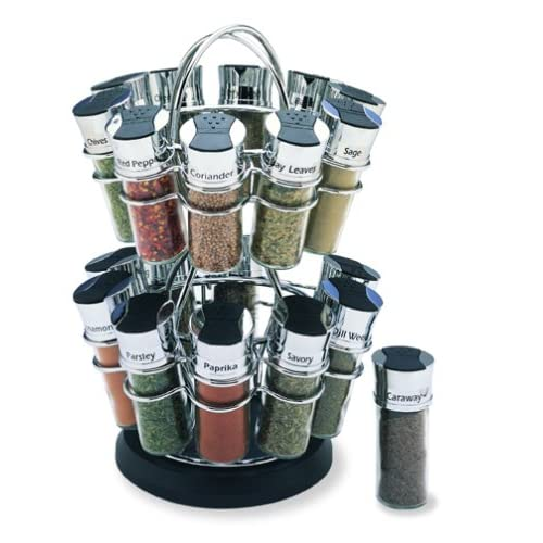 Amazon.com: Olde Thompson 20-Jar Flower Spice Rack: Spinning Spice