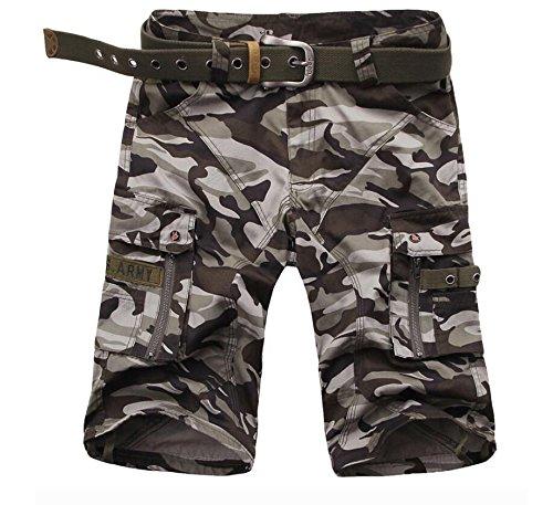 GG Abbigliamento uomo cerniera cinque dritto Outdoor spiaggia pantaloni pantaloni , dark camouflage , 38