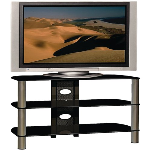 buy low price techcraft pcu48 48 inch tall tv stand for 16 inch to 50 inch tvs metal pcu48. Black Bedroom Furniture Sets. Home Design Ideas