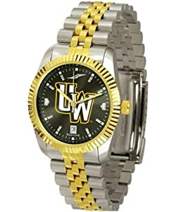 University of Wyoming Cowboys Mens Stainless Steel Alumni Dress Watch by SunTime
