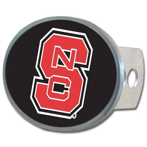 NCAA North Carolina State Wolfpack Oval Hitch Cover (Wolf Trailer Hitch Cover compare prices)