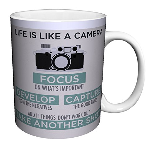 Life is a Camera Inspirational Motivational Photography Quote Ceramic Gift Coffee (Tea, Cocoa) 11 Oz. Mug