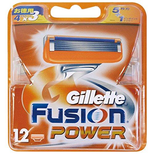 ジレット フュージョン5+1パワー替刃 12個入