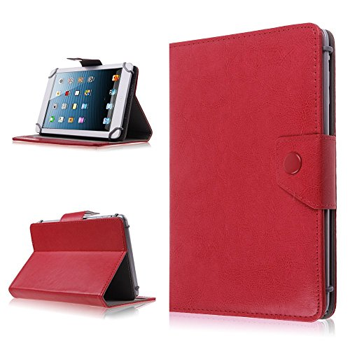 Best Prices! 10 Inch Tablet Pad Hard Folio Protective Stand Cover Case - Faux Leather Carrying Case