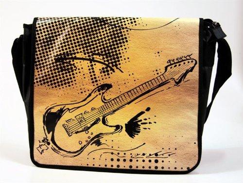 Laptoptasche-Messengertasche-E-Gitarre-mit-Taschendeckel-zum-Wenden