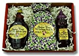 Shadow River Wild Huckleberry Gourmet Boxed Gift Set - 10 oz Syrup, 12 oz Honey, Pancake Mix