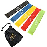 #1 Best Resistance Bands - 5 Loop Fitness Bands Set - Exercise Resistance Loop Bands - Exercise Bands For Legs...