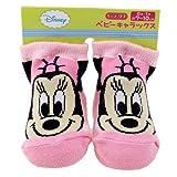 ミニーマウス《ストライプ》ベビーソックス(新生児靴下)ディズニーキャラクターグッズ通販 ランキングお取り寄せ