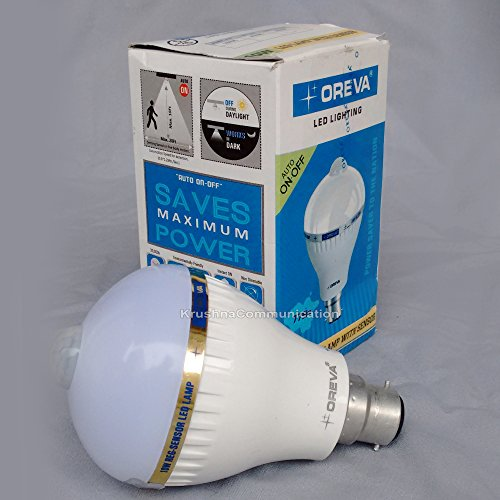 Oreva-10W-Sensor-Auto-On-Off-LED-Bulb-Lamp-(White)
