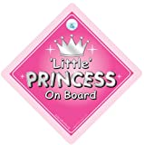 Little Princess On Board, Car Sign, Silver Text, Princess On Board, Princess Car Sign, Decal, Bumper Sticker, Baby Signs, Baby On Board Sign, Baby on Board, Princess Sign, Princess Car Sign, Baby Car Sign