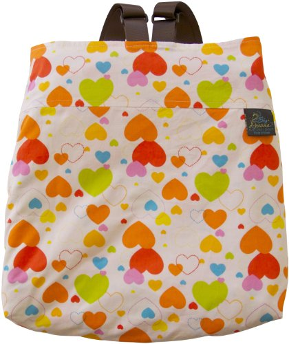 Sky Dreams Travel Blanket Kaianna Love Is In The Air Orange Backpack front-252964