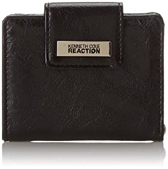 Kenneth Cole Reaction Must Haves Tab Key Ring Wallet,Black,One Size