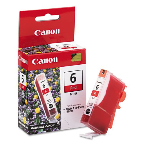 Canon BCI6R (BCI-6) Ink Tank, 370 Page-Yield, Red