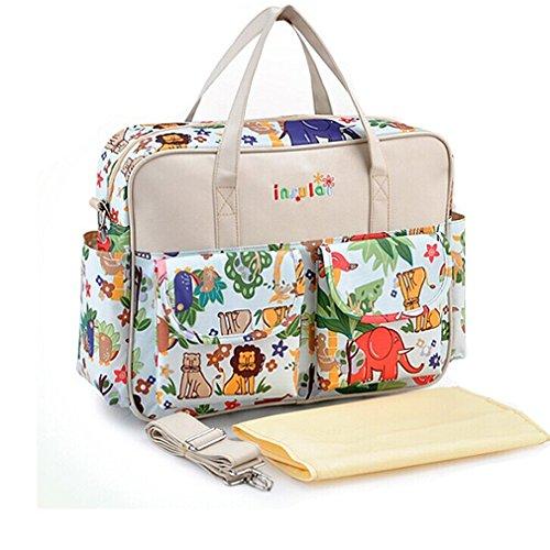 priny-larger-capacity-multifunctional-waterproof-mummy-handbag-travel-baby-changing-tote-bag-animal-