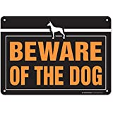 "My Sign Center Aluminum Beware of Dog Sign, 10"" X 14"""