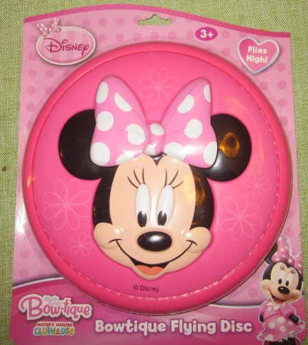 "Disney Minnie Mouse Bowtique 9"" 3-D Flying Disc - 1"