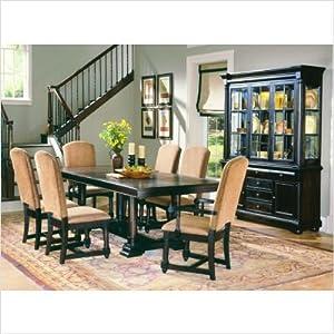 1376 Series 9 Piece Dining Room Set in Ebony