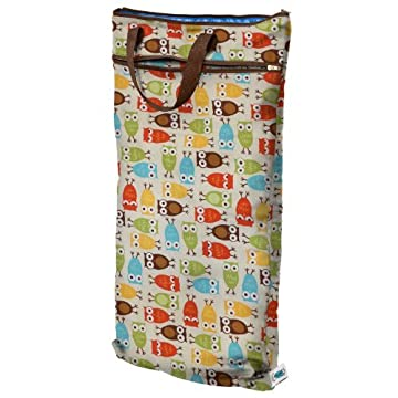 Planet Wise Hanging Wet/Dry Bag - Owl - 17 x 21