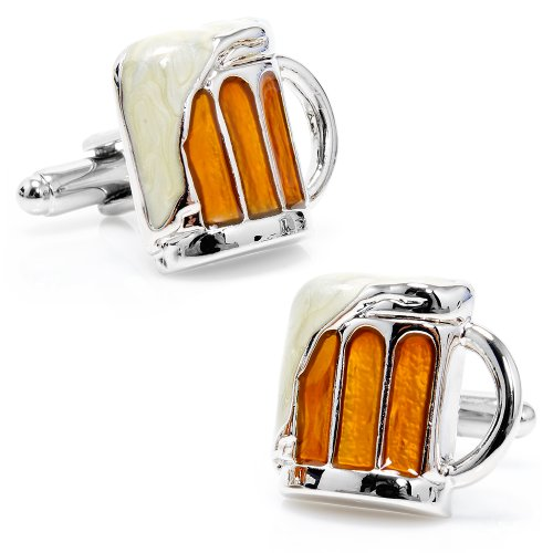 Mug of Beer Cufflinks Novelty 1 x 1in (Beer Cufflinks compare prices)