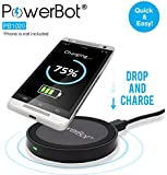 PowerBot PB1020 Qi Enabled Wireless Charger with Two Micro USB Cable for Smartphones & Tablets - Black