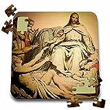 Scenes from the Past Magic Lantern - Jesus Christ and Followers on Calvary Golgotha Vintage Magic Lantern - 10x10 Inch Puzzle (pzl_246383_2)