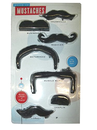 STICK ON MUSTACHE SET - 1