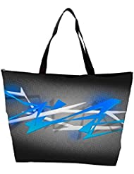 Snoogg Blue Spiky Abstract Background Waterproof Bag Made Of High Strength Nylon