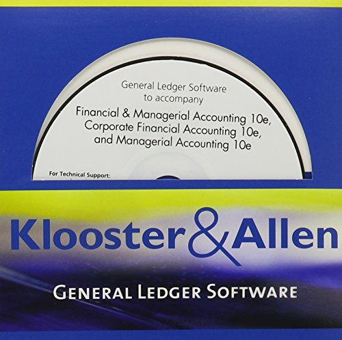 Klooster & Allen's General Ledger Software for Warren/Reeve/Duchac's Financial & Managerial Accounting, 10th, Co