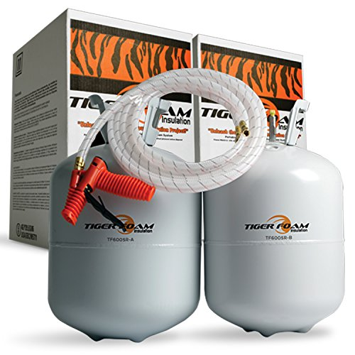 Tiger Foam Slow Rise 600 Bd/Ft Spray Foam Insulation Kit (Slow Rise Spray Foam compare prices)