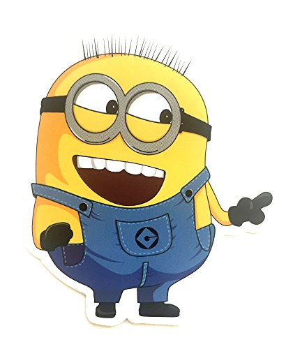 Cute Despicable Me Minions Jerry Laughing Classic Decal Cartoon Stickers (Bad Milo Figure compare prices)