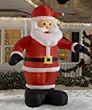 CHRISTMAS INFLATABLE LED LIGHTED 10 FT TALL ANIMATED WAVING SANTA CLAUS