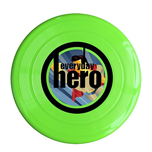 XJBD Unisex Everyday Hero Outdoor Game, Sport, Flying Discs,Game Room, Light Up Flying, Sport Disc ,Flyer Frisbee,Ultra Star KellyGreen One