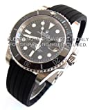 20mm Silicon Rubber Watchstrap with Stainless Steel Deployment Fits Rolex Submariner and GMT