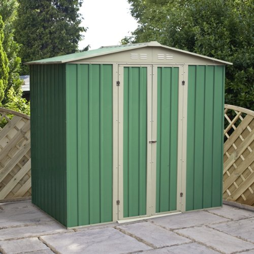 10 x 6 Apex Metal Shed, garden shed, storage, metal store with double doors from Buttercup Farm