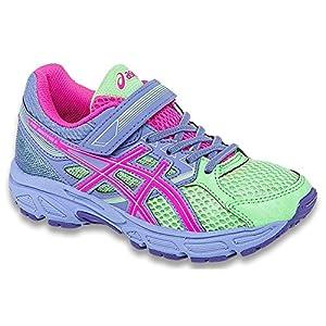 ASICS Pre Contend 3 PS Running Shoe (Toddler/Little Kid), Pistachio/Hot Pink/Lavender, 11 M US Little Kid